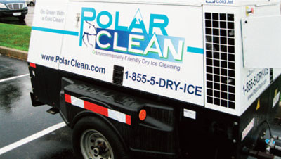 sullair portable air compressor PolarClean dry ice blasting