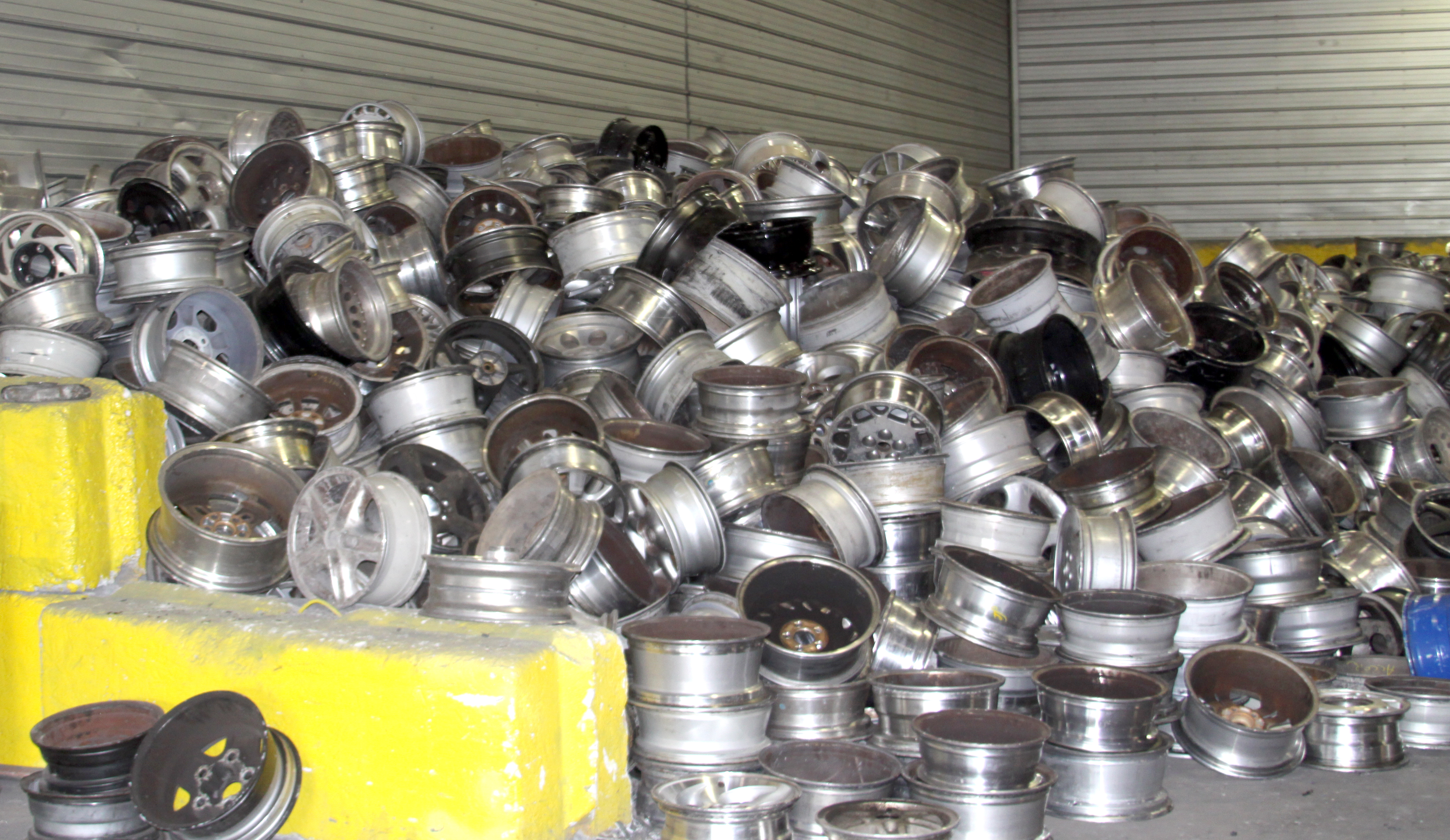 Damaged and discarded aluminum wheels are the raw material that feeds both Stiefel Aluminum and SB Manufacturing.