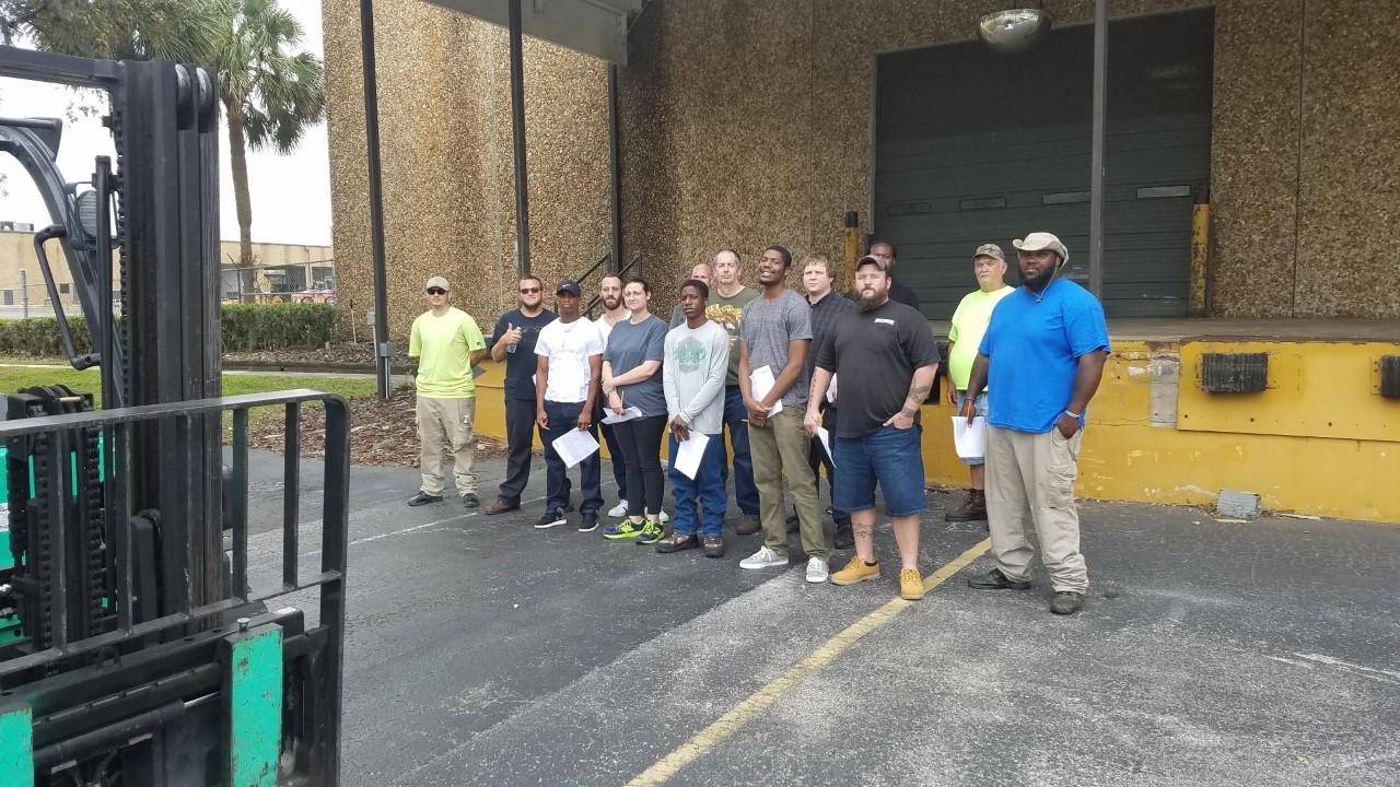 Recently, Lift Trucks Safety Trainer Patrick Knisel was recognized by the Florida Dept. of Corrections for facilitating the Forklift Operator Training class as part of the Corporate Training Program at the College of Central Florida in Ocala.