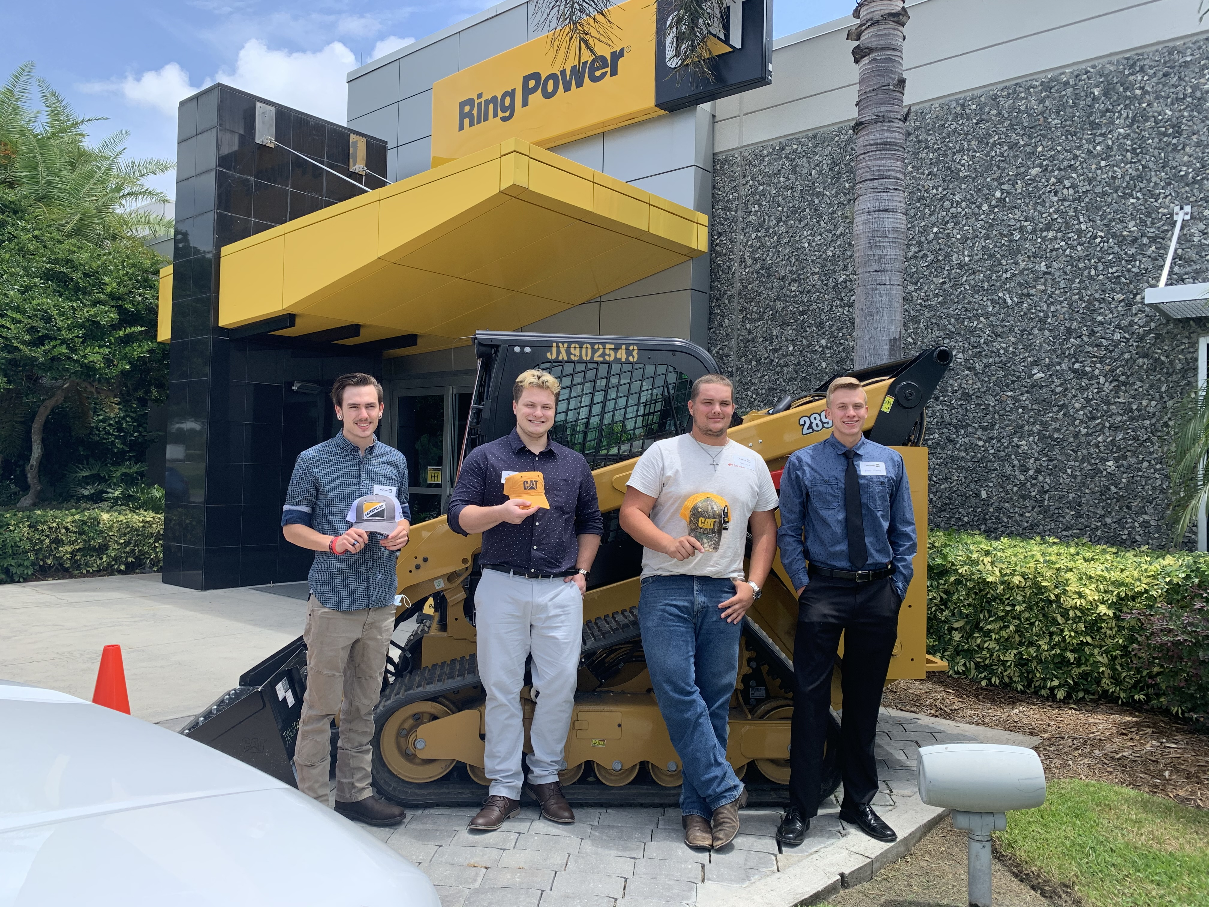 L-R: Lucas Missall (Gainesville PSD), Mason Underkoffler (Orlando HE), Alex Laird (Tampa HE), Simon Westra (Tampa HE). The ThinkBIG Technician Scholarship recipients will begin class in August.