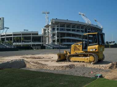 Ring Power Cat Bulldozer levels Jaguars' new playing field