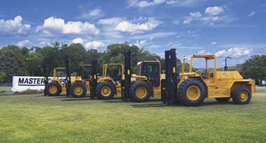 Line of  Master Craft Rough Terrain Forklifts