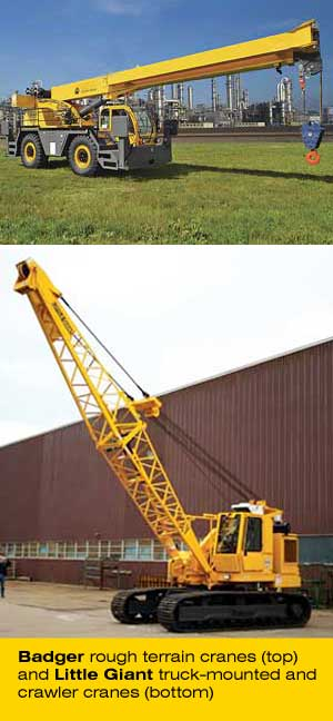 rough terrain crane and crawler crane