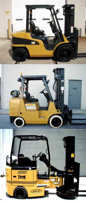 used and  reconditioned forklifts